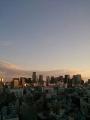 M記念病院13階窓から 夕方(2014.04.06)