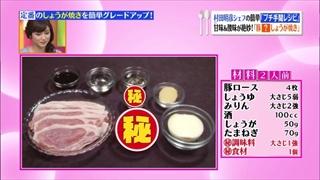 村田明彦、プチ手間レシピ(豚トマしょうが焼き)の材料
