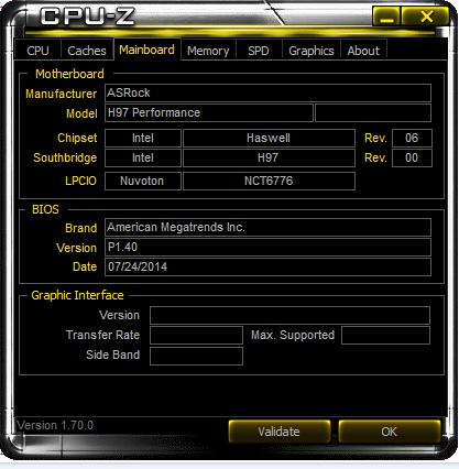 CPU Z H97 2