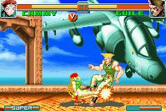 Super Street Fighter II X Revival GBA 08