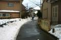 雪かき済みの道路