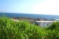 西側の海を見る