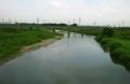 初雁橋から見た入間川下流・向こうはJR川越線