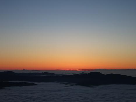 雲海とご来光