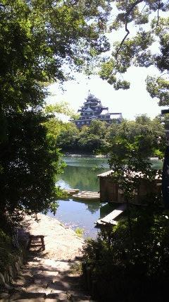 岡山後楽園から見た岡山城