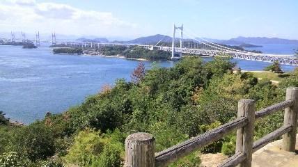 岡山・鷲羽山から見た瀬戸大橋 2013.9.27