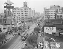 銀座(都電が走る昭和30年頃)