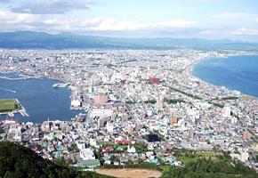 函館山から見た函館湾(現在)