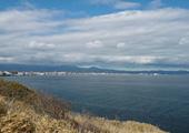 現在の立待岬から見える函館の町