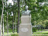 北海道大学(古河記念公会堂前)のクラーク博士胸像
