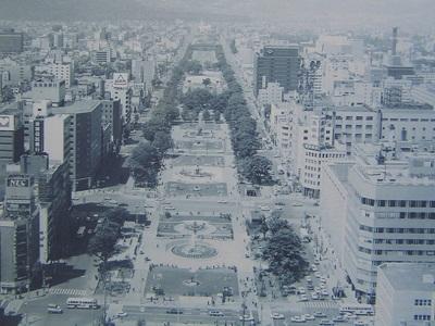 札幌大通公園(1960年当時)