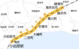 東海道新幹線試運転地図