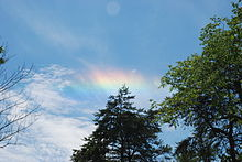 2007年6月30日にオハイオ州で観測された環水平アーク