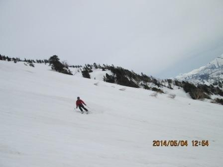 4-12 大日岳から滑降1 1254