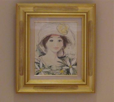 ベルナール・シャロワ「白帽子の女(肉筆画)」-1