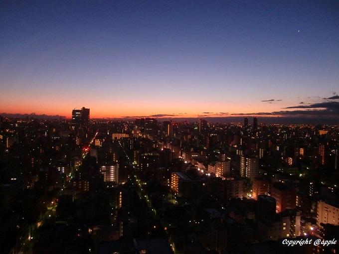 20140205東京朝焼け(両国第一H)