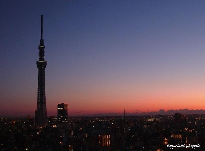20140205東京朝焼け