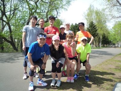真駒内公園練習会の集合写真