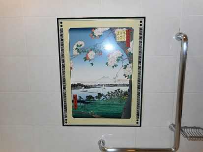 バスルームの絵