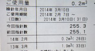 ガス代また1000円3