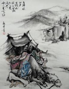201409 水墨 sahara 駱駝