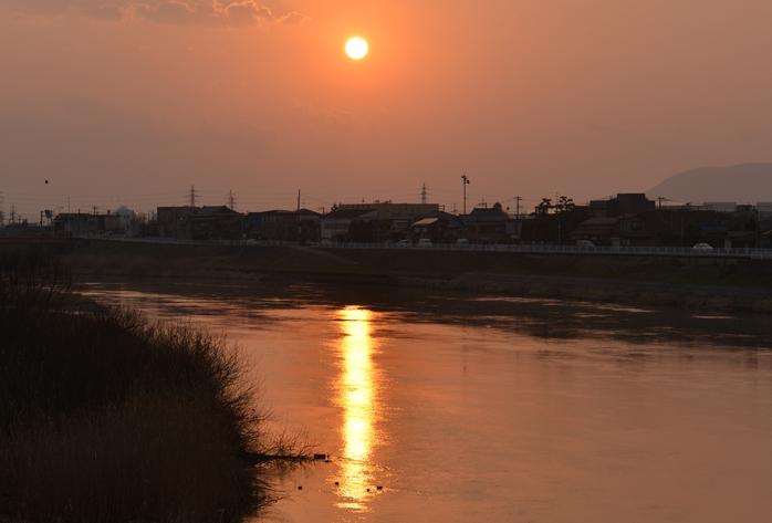 夕陽 河-1