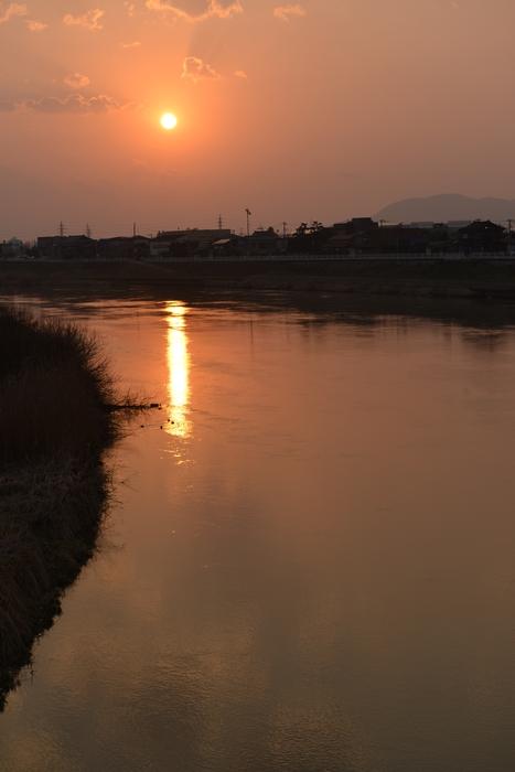 夕陽 河-2