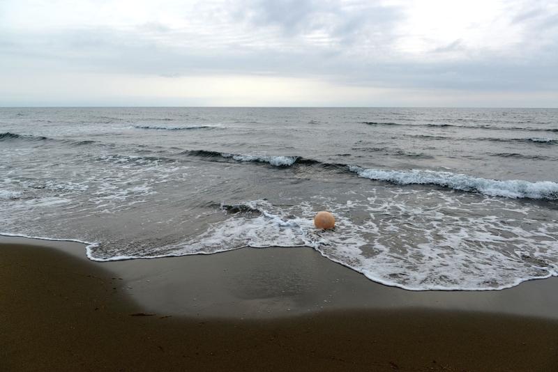 原発の見える海岸-2