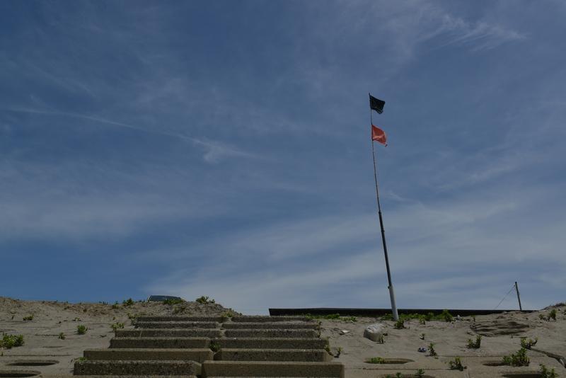 海岸 旗-2