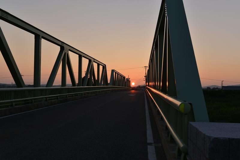 今日の夕陽 鉄橋-3