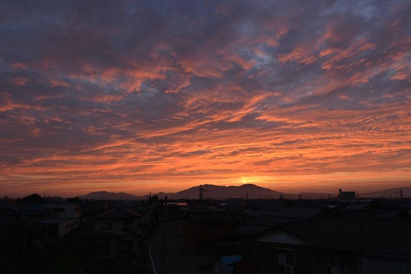 今日の夕陽 紅く染まる-3
