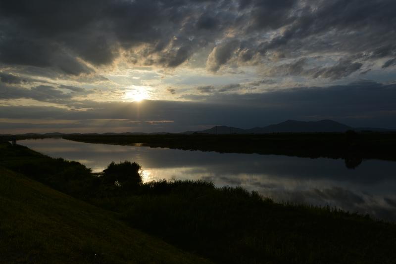 雲と夕陽-1