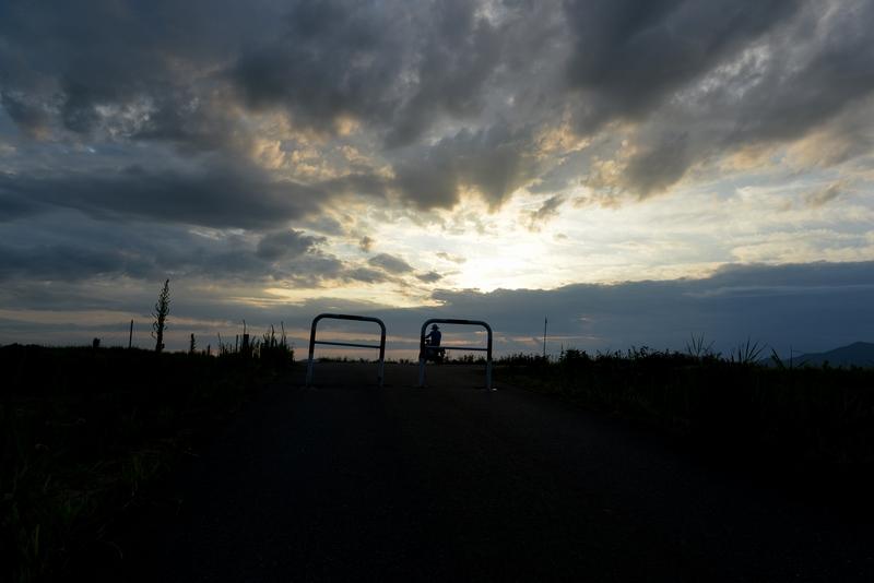 雲と夕陽-2