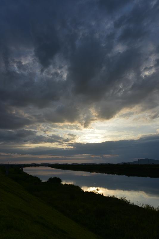 雲と夕陽-3