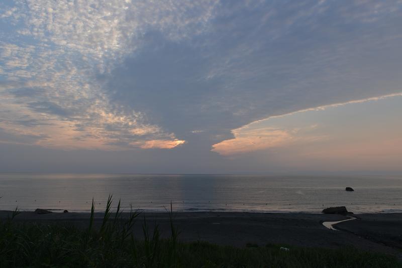 今日の夕暮れ 晩夏の海-3