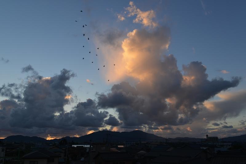 夕暮れ時の雲-2
