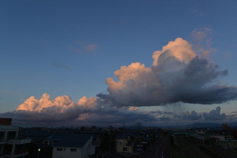 夕暮れ時の雲-3