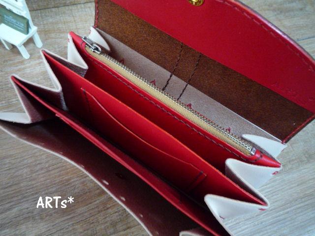 バイカラーの長財布 (4)