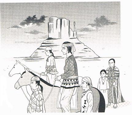 挿絵・ナバホ族