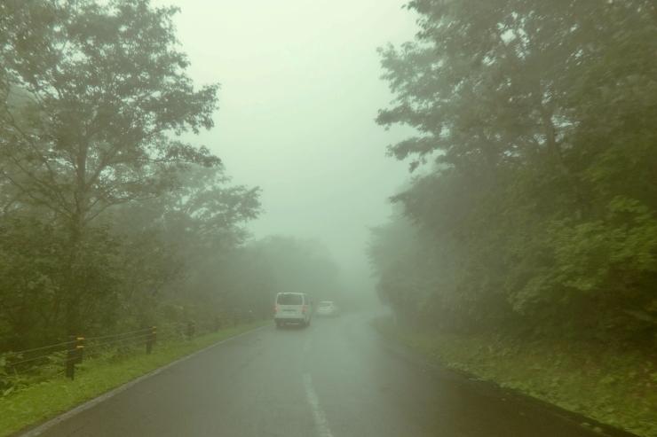 霧のスカイラインにて
