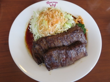 ジャンボビーフステーキ 1399円(ライス食べ放題)