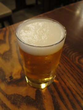 一口ビール 270円