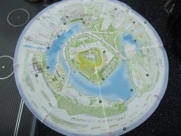 ・シンガポールフライヤー乗車時に貰った地図。景観と照らし合わせて