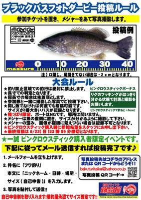 バス釣り大会ルール2014フワ