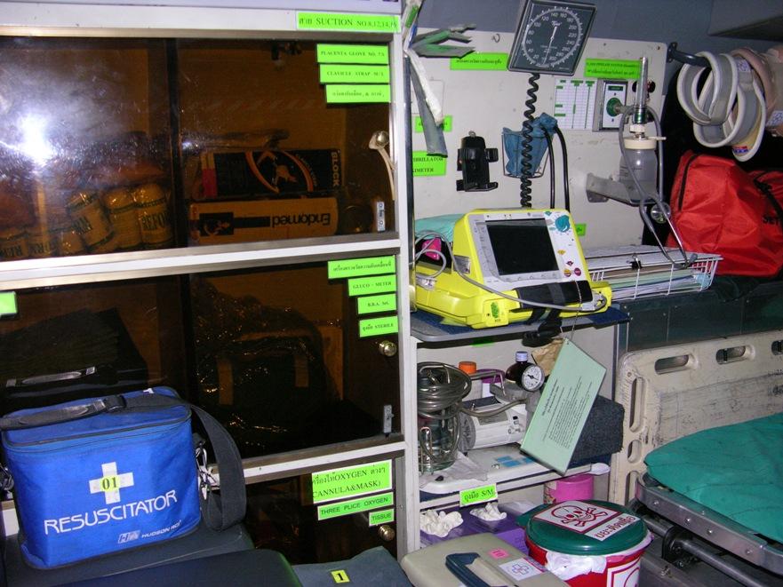 救急車の装備は常に最新のもの(写真は数年前のもの)