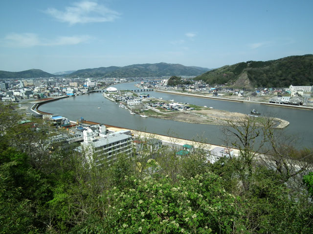 石巻 日和山から見た被災地風景(1)