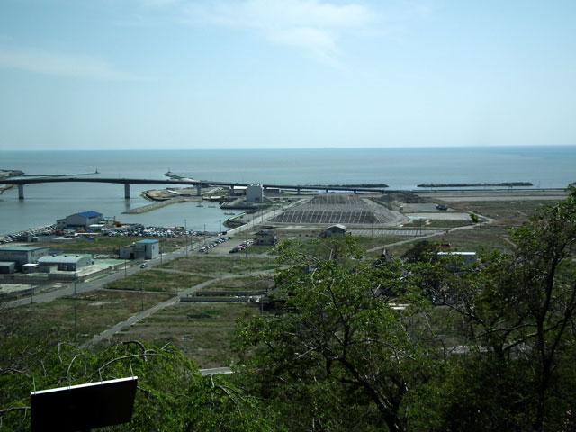 石巻 日和山から見た被災地風景(2)