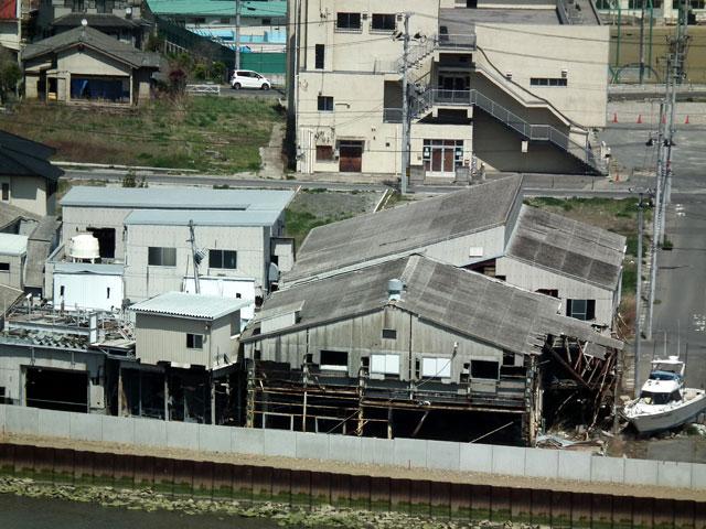 石巻 日和山から見た被災地風景(3)
