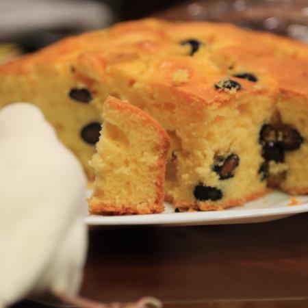 kuri to kuromame no paundo cake (2)