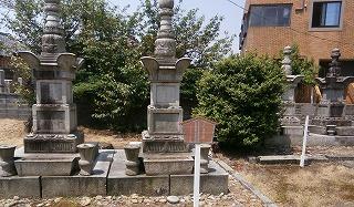 新発田藩主墓2